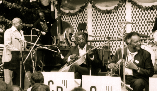 "William ""Count"" Basie (left), Freddie Green (centre)"